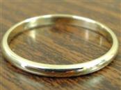 ESTATE CLASSIC PLAIN WED RING BAND SOLID REAL 10K YELLOW GOLD SZ 7.5